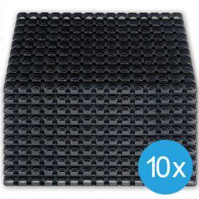 Caillebotis caoutchouc 50 x 80 cm (10 pièces)