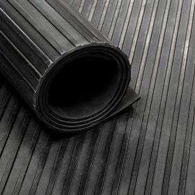 Tapis caoutchouc nervuré 6 mm - largeur 100 cm (par mètre linéaire)