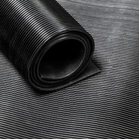 Tapis caoutchouc strié 3 mm - largeur 30 cm (par mètre linéaire)