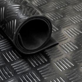Tapis caoutchouc larmé type checker 3 mm - largeur 140 cm (par mètre linéaire)