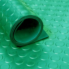 Rubber loper / rubbermat op rol Noppen 3mm groen - Breedte 100 cm - Geurloos