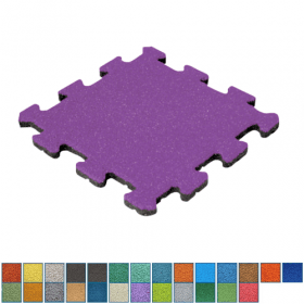 gekleurde rubber tegel puzzelsysteem - 50 mm
