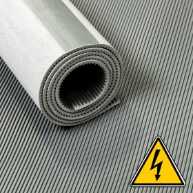 Tapis VDE / tapis haute tension / tapis isolant - 3 mm 30 Kv - Largeur 120 cm - Par mètre linéaire