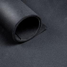 Sol pour salle de sport - largeur 1,25 m - épaisseur 6 mm - Noir (au mètre linéaire)