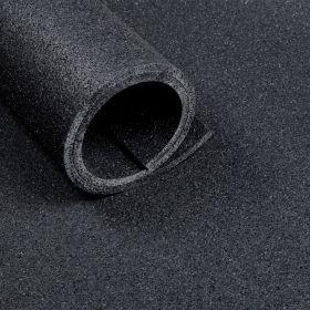 Sol pour salle de sport - Mat de 2 m2 - épaisseur de 10 mm - Aspect asphalte noir